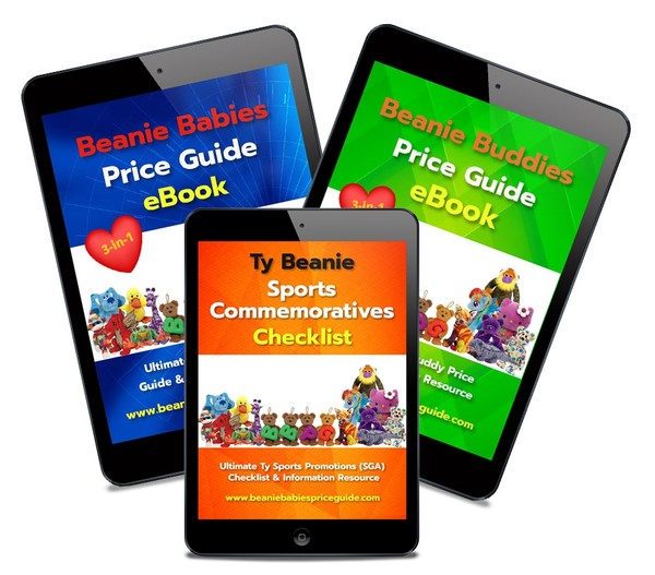 BEST DEAL!  Beanie Babies & Beanie Buddies Price Guides & Sports Promo List COMBO PACK