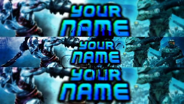 Banner 2d template (Azul)
