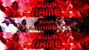 Banner 2d template (Rojo)