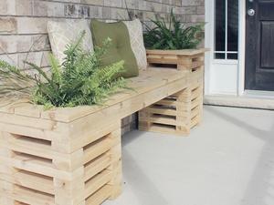 Cedar Bench Rendering & Drawing