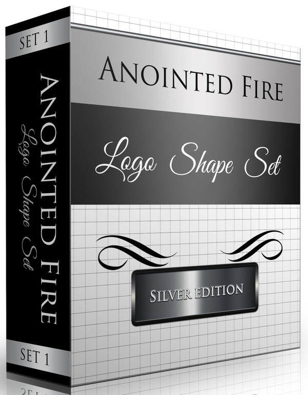 Logo Shapes Set (25 Total Shapes) Silver Edition