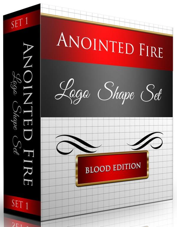 Logo Shapes Set (25 Total Shapes) Blood Edition