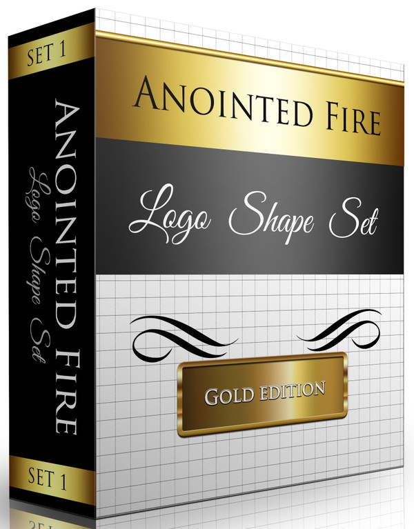 Logo Shapes Set (25 Total Shapes) Gold Edition