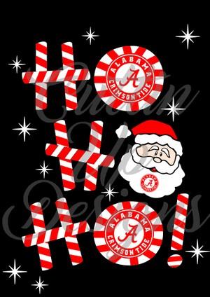 Alabama Ho Ho Ho Christmas Design SVG Cutting File for Cricut of Cameo Football Logo