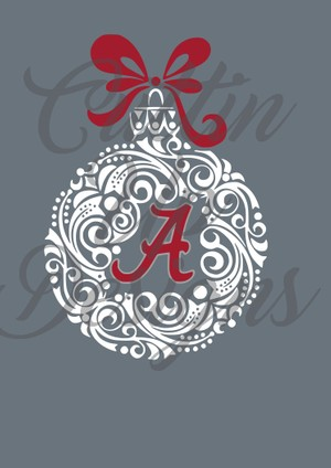 Alabama A Christmas Ornament SVG Cutting File for Cricut or Cameo. Easy cut and layer