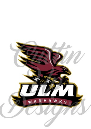 ULM Warhawks Logo SVG Cutting file for Cricut or Cameo.