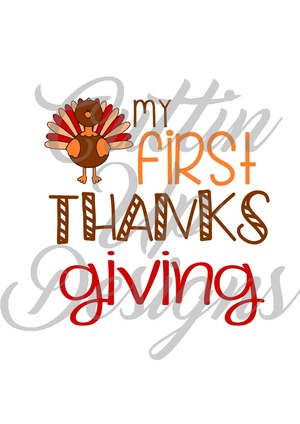 My first 1st Thanksgiving SVG Cut File. Great design for a boy's shirt. Easy cut and layer