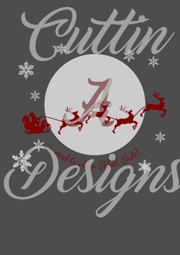 And to all a Roll Tide Merry Christmas Santa SVG Cutting File for Cricut or Cameo Alabama