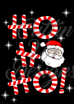 Ho Ho Ho Candy Cane Santa Claus Christmas SVG Cut File for Cricut or Cameo. Super cute and easy