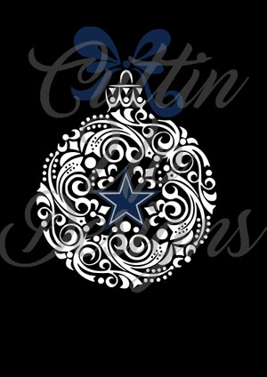 Dallas Cowboy Christmas Ornament SVG Cut file for cricut or cameo Easy cut and layer
