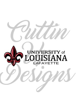 University of Louisiana at Lafayette Logo SVG Cutting File for Cricut or cameo. Great file. Sports.