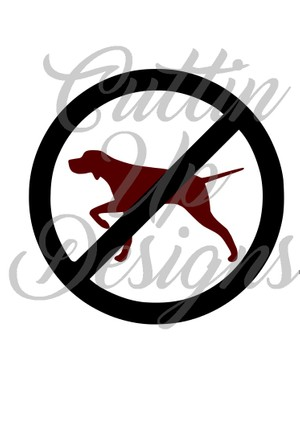 No Pointer Pointing Dog SVG Cutting File for Cricut or Cameo. Easy cut and layer