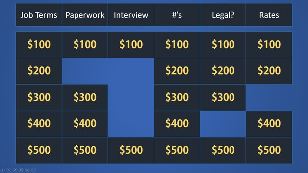 easy jeopardy powerpoint template basic