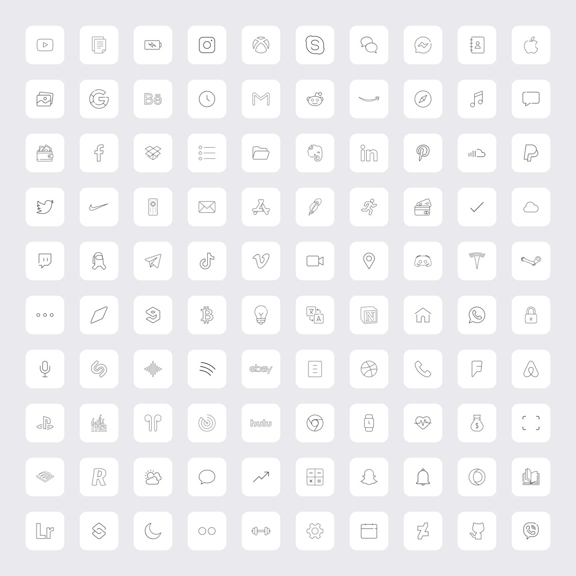 Ice White - iPhone Icons Pack (100 icons)
