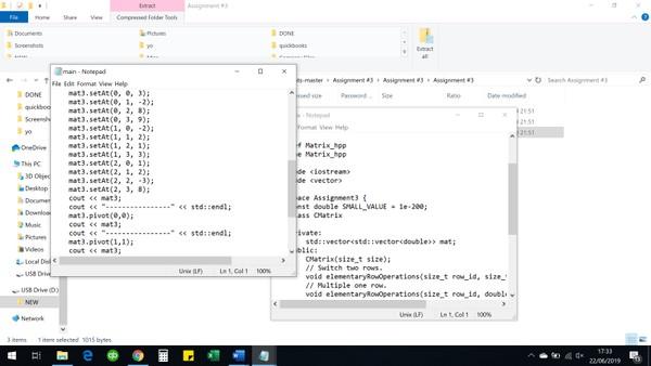 Gaussian Elimination solution