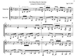 Dr. John - New Orleans Blues Transcription PDF Sheet Music