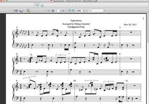 Stevie Wonder Style Superstition PDF Sheet Music
