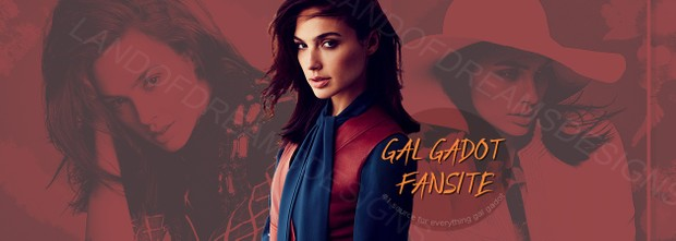 Premade Fansite Header - Gal Gadot