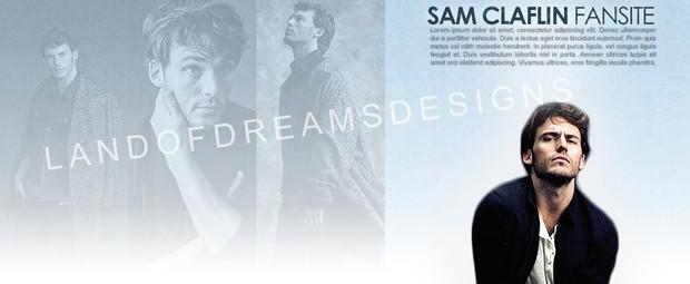 Premade Fansite Header - Sam Claflin