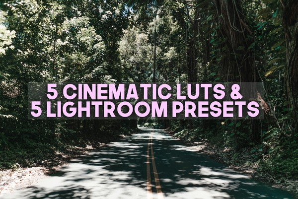 5 CINEMATIC LUTS + 5 LIGHTROOM PRESETS COMBO