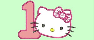 hello kitty - embroidery designed - wilcom