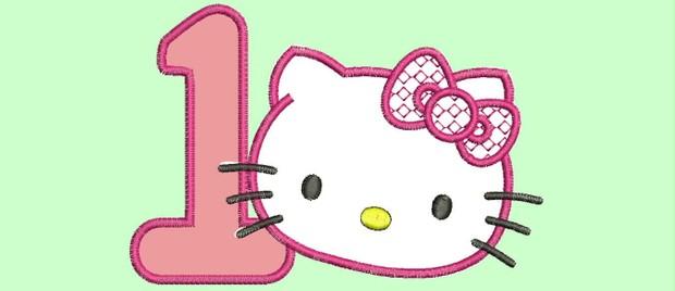 hello kitty - embroidery designed - wilcom