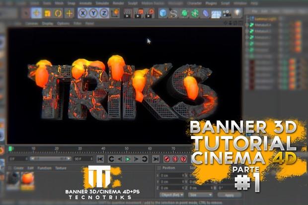Tutorial de Banner 3D Parte #1 C4D / 15Like Parte #2
