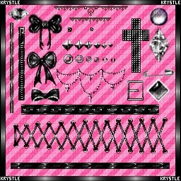 Krystle's Pixel Pack V3 {Gothic Corset Dreams}