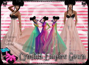 💎 Cynthia Empire Gown