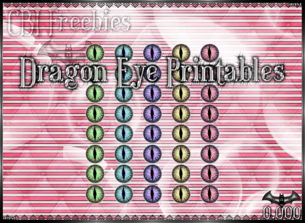 💎 Dragon Eye Printable