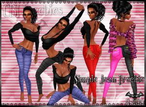 Simple Jean Freebie