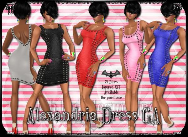 Alexandria Dress PNG Edition