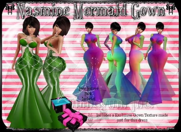 💎 Nasmine Mermaid Gown Mesh
