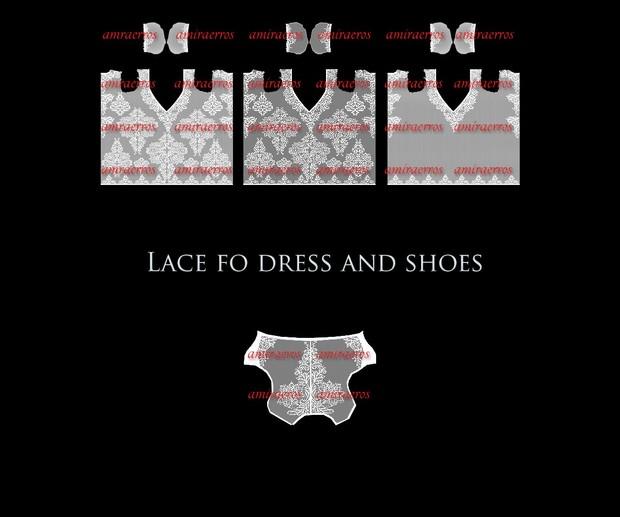 LACE DRESS & SHOES
