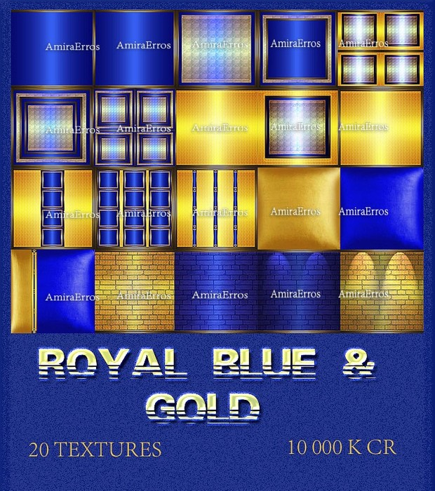 ROYAL BLUE & GOLD