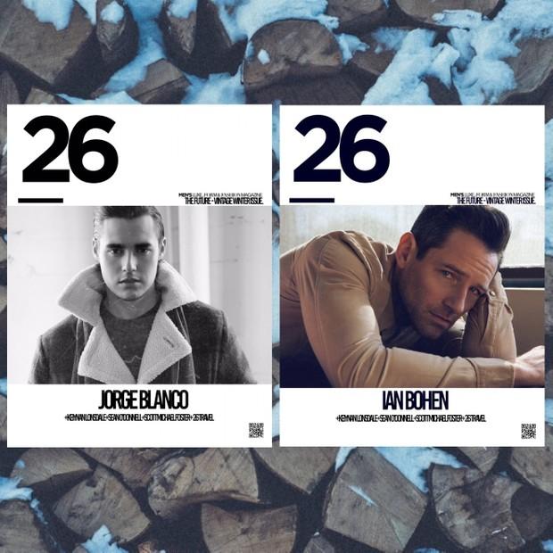 26 Magazine Jorge Blanco, Ian Bohen