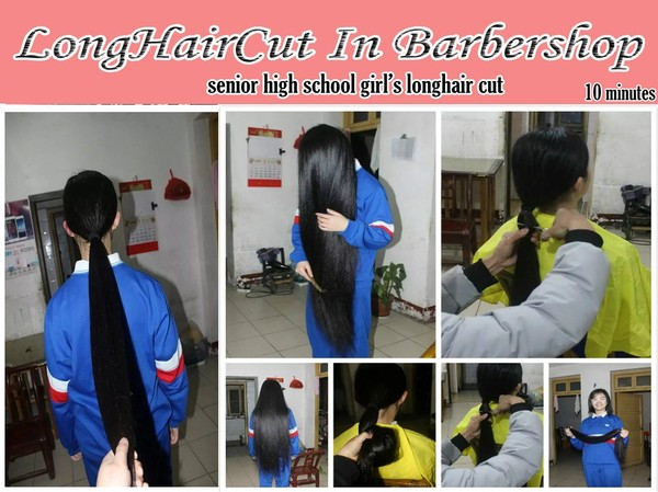 senior high school girl's longhair cut