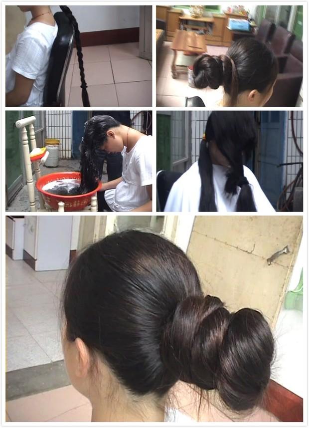 Big hairbun to cut