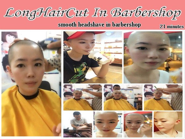 smooth headshave in barbershop