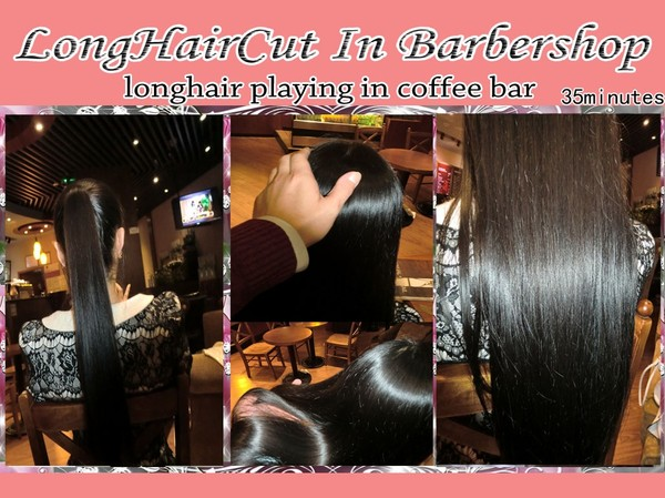 longhair playing in coffee bar