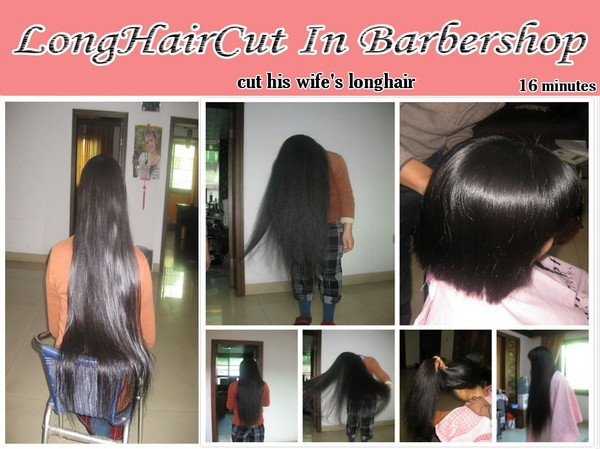 cut his wife's longhair
