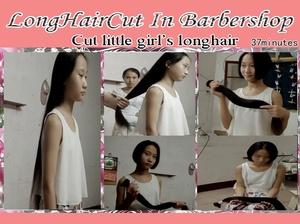 Cut little girl's longhair