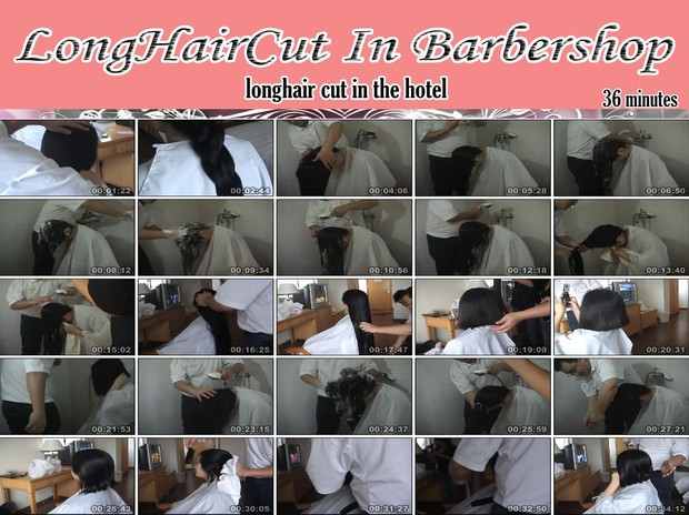 longhair cut in the hotel