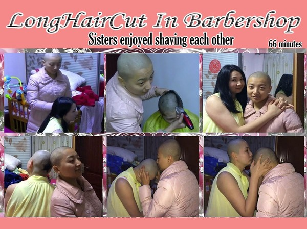 Sisters enjoyed shaving each other