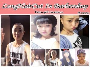 Tattoo girl's headshave