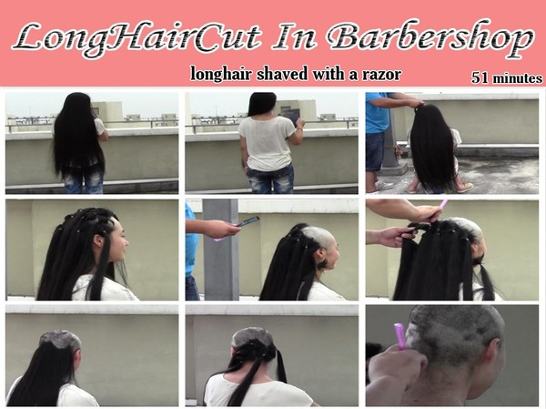 longhair shaved with a razor