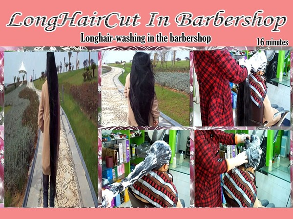 Longhair-washing in the barbershop