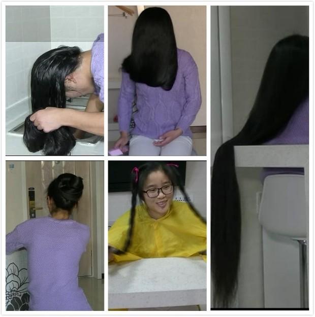 long braid to bald