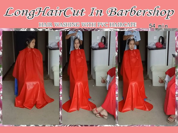Cape- hair washing with PVC haircape