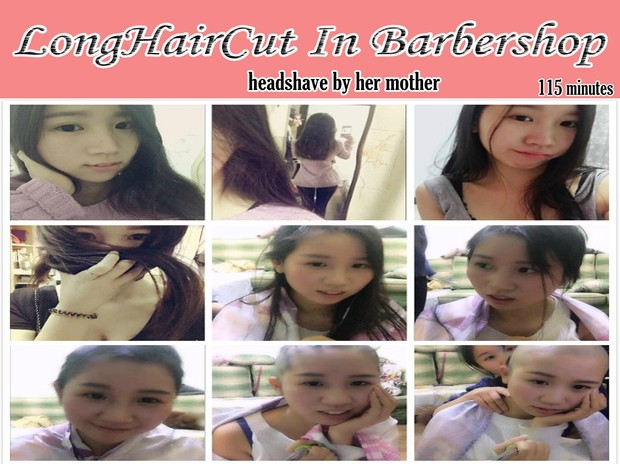 headshave by her mother